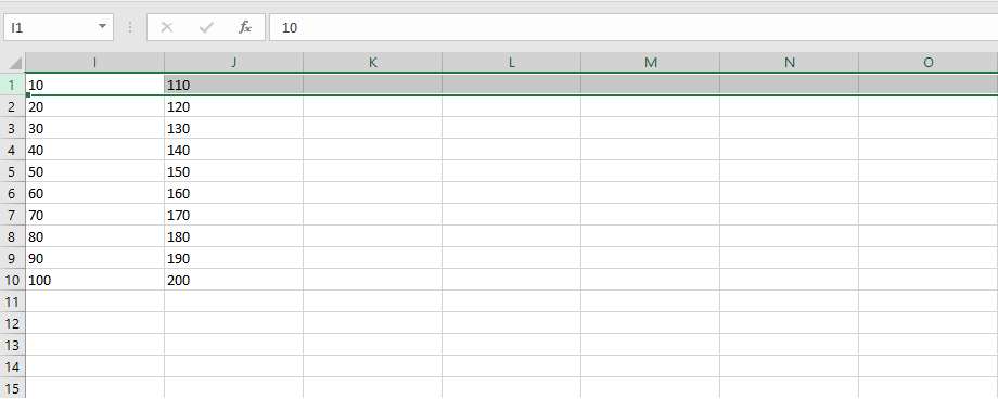 No Need to Scroll in Order to Select a Large Amount of Data in Rows